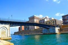 Il ponte della parte girevole Immagine Stock