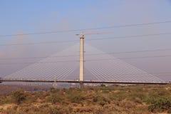 Il ponte di attaccatura sopra il fiume chamble, Kota Fotografia Stock Libera da Diritti