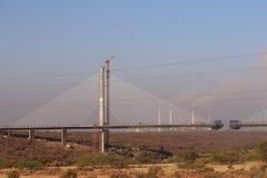Il ponte di attaccatura sopra il fiume chamble, Kota Fotografie Stock Libere da Diritti