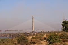 Il ponte di attaccatura sopra il fiume chamble, Kota Immagini Stock
