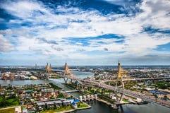 Il ponte di Bhumibol fotografia stock