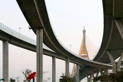 Il ponte di Bhumibol Immagine Stock