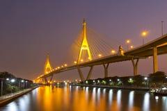 Il ponte di Bhumibol Immagine Stock Libera da Diritti