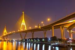 Il ponte di Bhumibol Immagini Stock Libere da Diritti