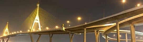 Il ponte di Bhumibol Immagini Stock