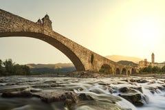 Il ponte di Bobbio Fotografia Stock Libera da Diritti