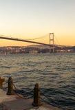 Il ponte di Bosforo, Costantinopoli. Fotografia Stock