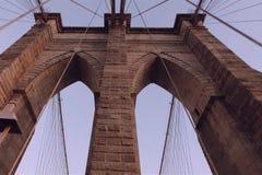 Il ponte di Brooklyn camminata sul ponticello fotografia stock libera da diritti