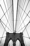 Il ponte di Brooklyn famoso immagine stock