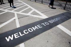 Il ponte di Brooklyn famoso immagini stock