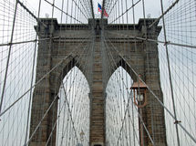 Il ponte di Brooklyn a New York City Fotografia Stock