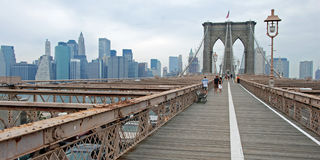 Il ponte di Brooklyn a New York City Fotografia Stock Libera da Diritti
