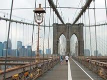 Il ponte di Brooklyn a New York City immagini stock libere da diritti