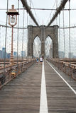 Il ponte di Brooklyn a New York City Fotografie Stock Libere da Diritti