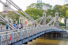 Il ponte di Cavenagh Immagine Stock