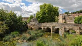 Il ponte di Città Vecchia sul fiume Avon a Bradford su Avon, Regno Unito Fotografia Stock Libera da Diritti
