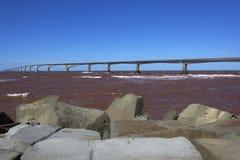 Il ponte di confederazione nel Canada Fotografia Stock