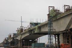 Il ponte di costruzione Immagine Stock