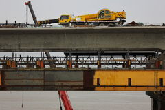 Il ponte di costruzione Fotografia Stock Libera da Diritti
