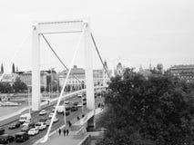Il ponte di Elisabeth a Budapest Fotografia Stock Libera da Diritti