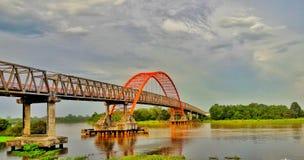 Il ponte di Kahayan fotografia stock libera da diritti