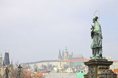 Genere sulla serratura di Praga di vecchia Praga Fotografie Stock