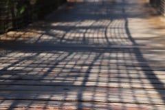 Il ponte di legno fotografia stock