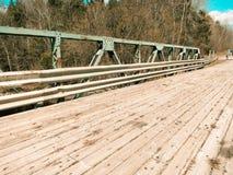 Il ponte di legno Fotografie Stock
