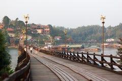 Il ponte di lunedì del sangkhlaburi, kanchanaburi Immagine Stock Libera da Diritti