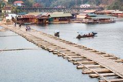 Il ponte di lunedì del sangkhlaburi, kanchanaburi Fotografie Stock Libere da Diritti