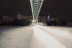 Il ponte di notte fotografie stock libere da diritti