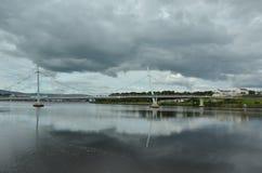 Il ponte di pace a Londonderry Fotografia Stock