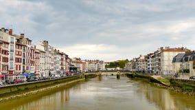 Il ponte di Pannecau a Bayonne video d archivio