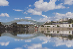 Il ponte di Prace a Tbilisi Fotografia Stock Libera da Diritti