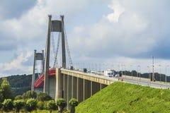 Il ponte di Tancarville Fotografia Stock Libera da Diritti