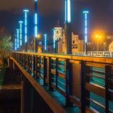 Ponte di Vytautas il Grande a Kaunas Immagini Stock