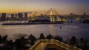 Il ponte dorato Tokyo dell'arcobaleno Fotografia Stock Libera da Diritti