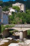 Il ponte ed il castello Fotografie Stock