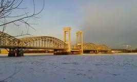 Il ponte ferroviario della Finlandia fotografia stock