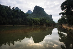 Il ponte nel xingping Immagine Stock