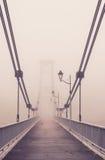 Il ponte nella nebbia Fotografia Stock Libera da Diritti