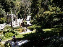 Il ponte a Quinta da Regaleira è una proprietà situata vicino al centro storico di Sintra, Portogallo Fotografia Stock Libera da Diritti