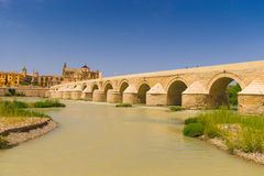 Ponte romano di Cordova Immagini Stock Libere da Diritti