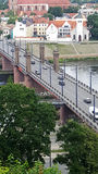 Il ponte sopra il fiume Nemunas Immagine Stock