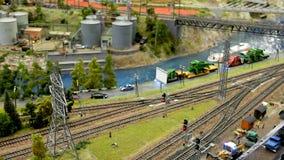 Il ponte sopra la ferrovia fotografie stock libere da diritti