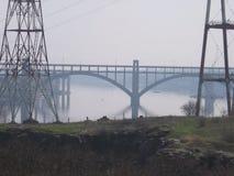 Il ponte sul fiume Dnieper Immagine Stock Libera da Diritti