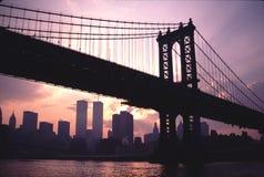 Il ponte Tom Wurl di TwinTowers Manhattan Immagine Stock Libera da Diritti