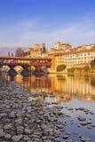 Il Ponte Vecchio a Bassano del Grappa Immagini Stock