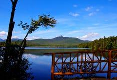 Il ponticello baciante sul lago Chocorua Fotografia Stock Libera da Diritti
