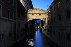Il ponticello dei sospiri a Venezia Fotografie Stock Libere da Diritti